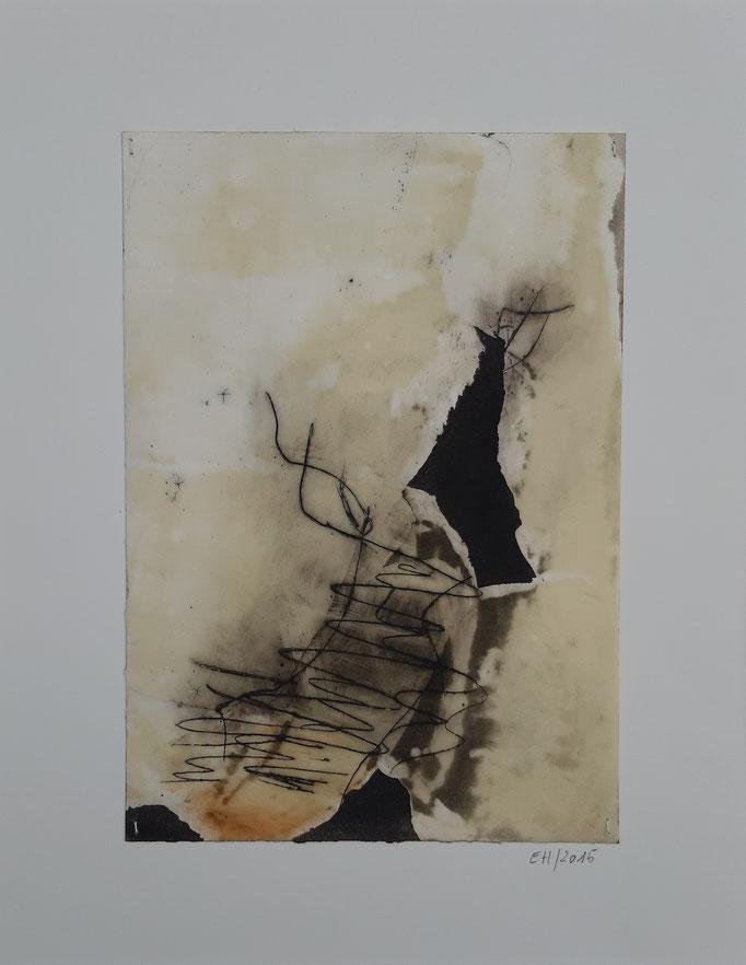 15 Wachs + Öl auf Papier 21 x 15 cm