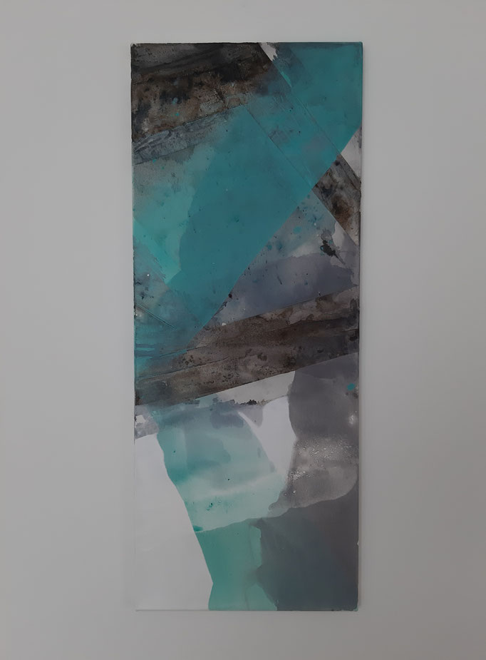 59 Mixed Media auf Leinwand 100 x 40 cm