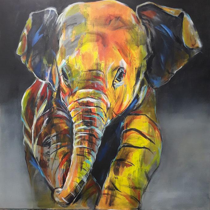 82 Acryl auf Leinwand 80 x 80 cm