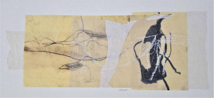 08 Collage auf Papier 25 x 55 cm