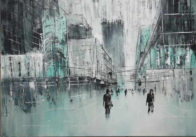 81 Cityscape 1, Acryl auf Leinwand 70 x 100 cm