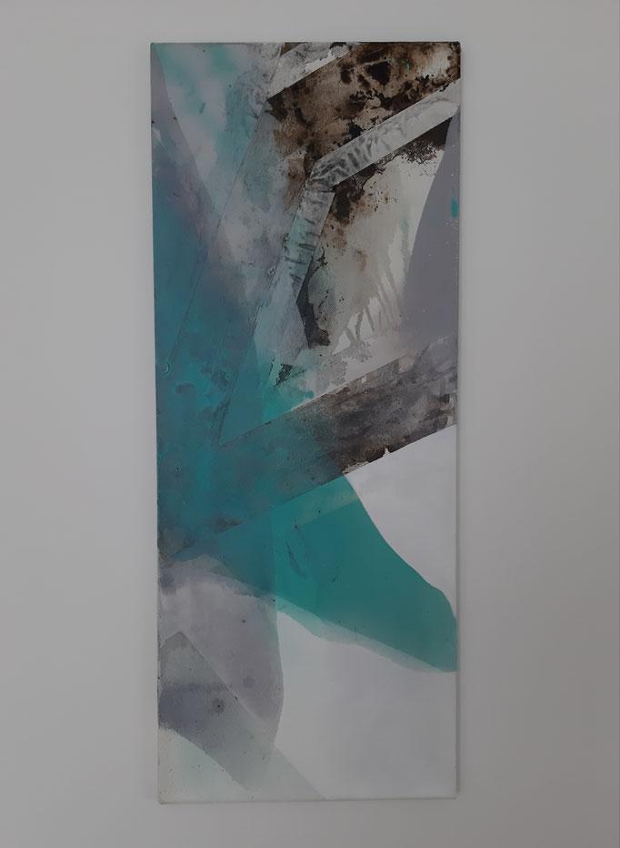 60 Mixed Media auf Leinwand 100 x 40 cm