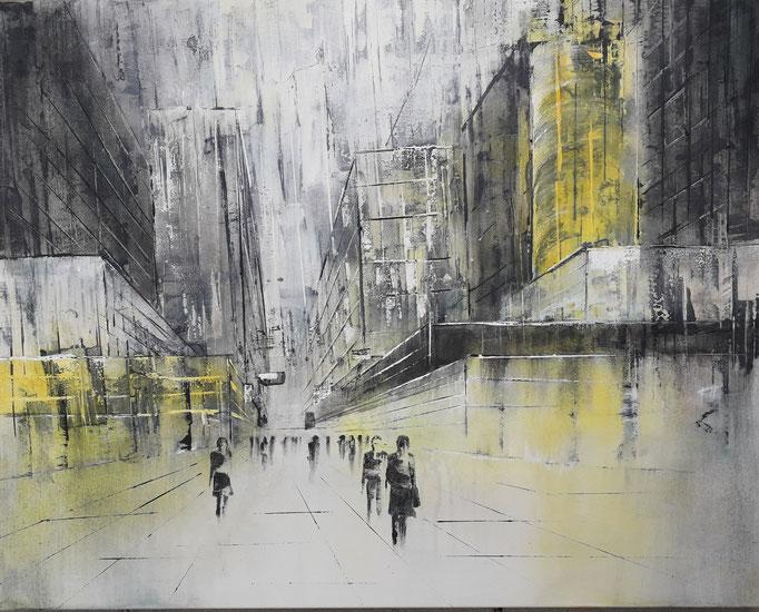 79 Cityscape 3 , Acryl auf Leinwand 80 x 100 cm