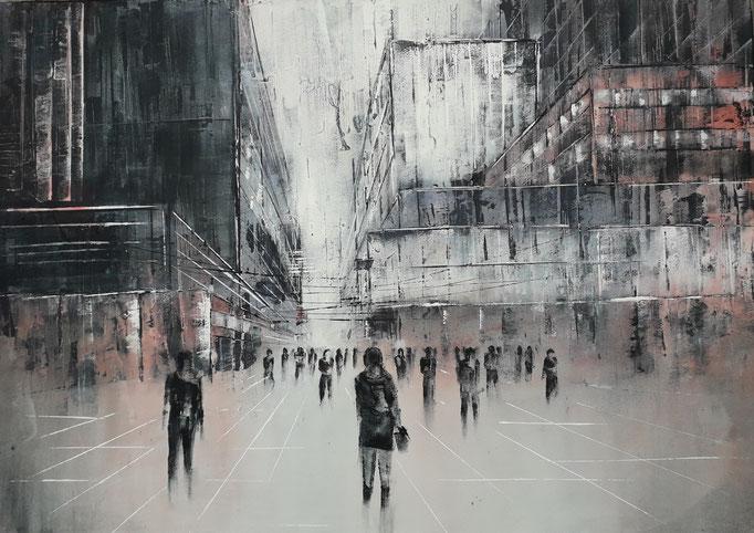 80 Cityscape 2, Acryl auf Leinwand 70 x 100 cm