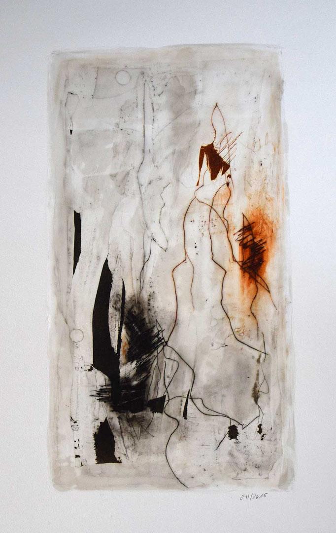 26 Wachs + Öl auf Papier 46 x 25 cm