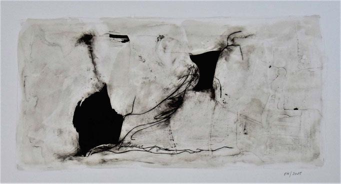 14 Wachs + Öl auf Papier 25 x 46 cm