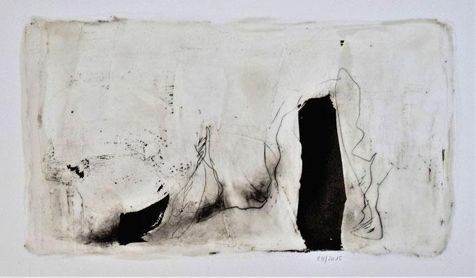 13 Wachs + Öl auf Papier 25 x 46 cm