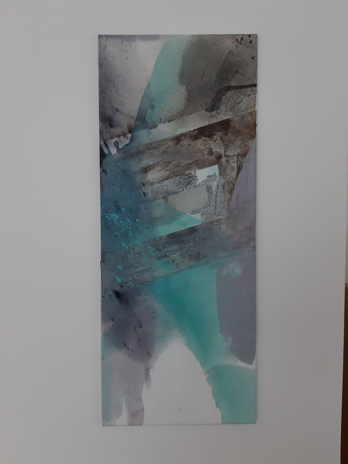 61 Mixed Media auf Leinwand 100 x 40 cm