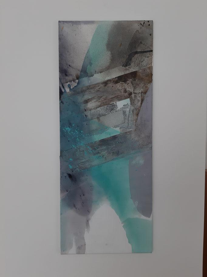 61 Mixed Media auf Leinwand 100 x 40 cm