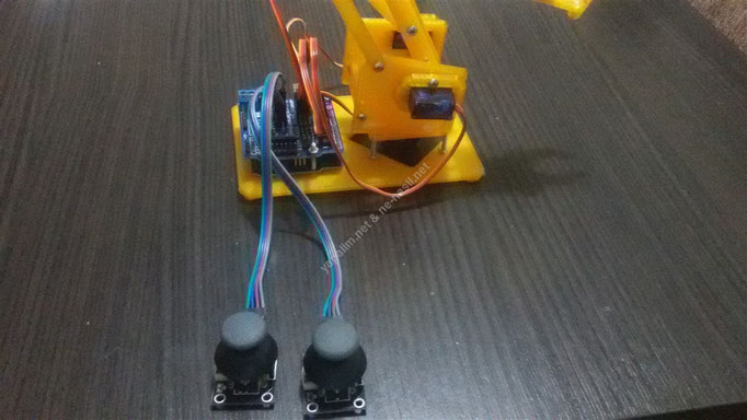 arduino ile joystick kontrollü robot kol nasıl yapılır