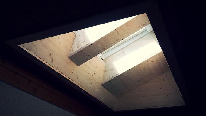 Umbau Glasziegel im Treppenhaus