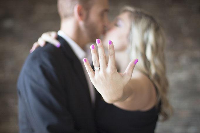 Der Kuss nach dem Antrag