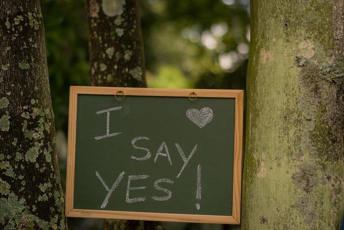 """Ich sage """"Ja!"""""""