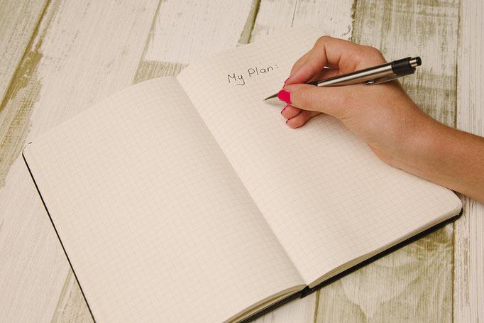 Pläne vor und für die Hochzeit erstellen!