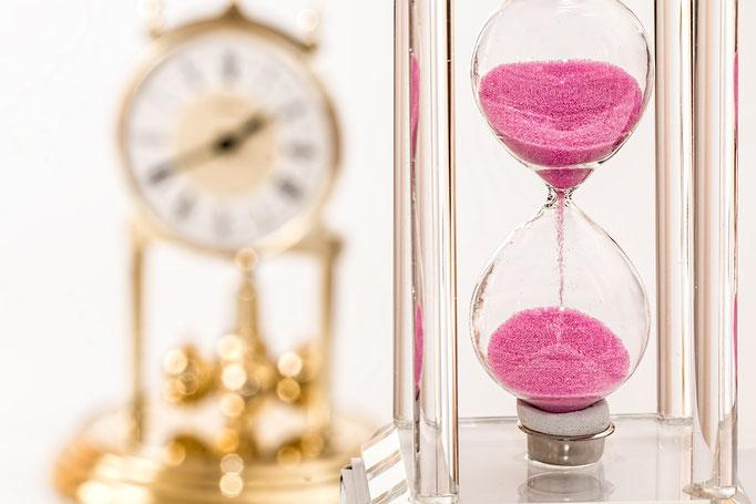 Zeitabläufe möglichst genau durchplanen!