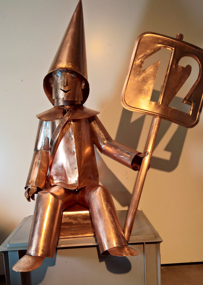Hausnummer aus Kupfer - Dekoidee Haus Garten Gartendekoration, Deko, Garten, Metall, Zink, Zinkkunst, Kunst aus Zink, Kupfer, Kupferkunst, Kunst aus Kupfer, Kunst aus Blech, Blechkunst