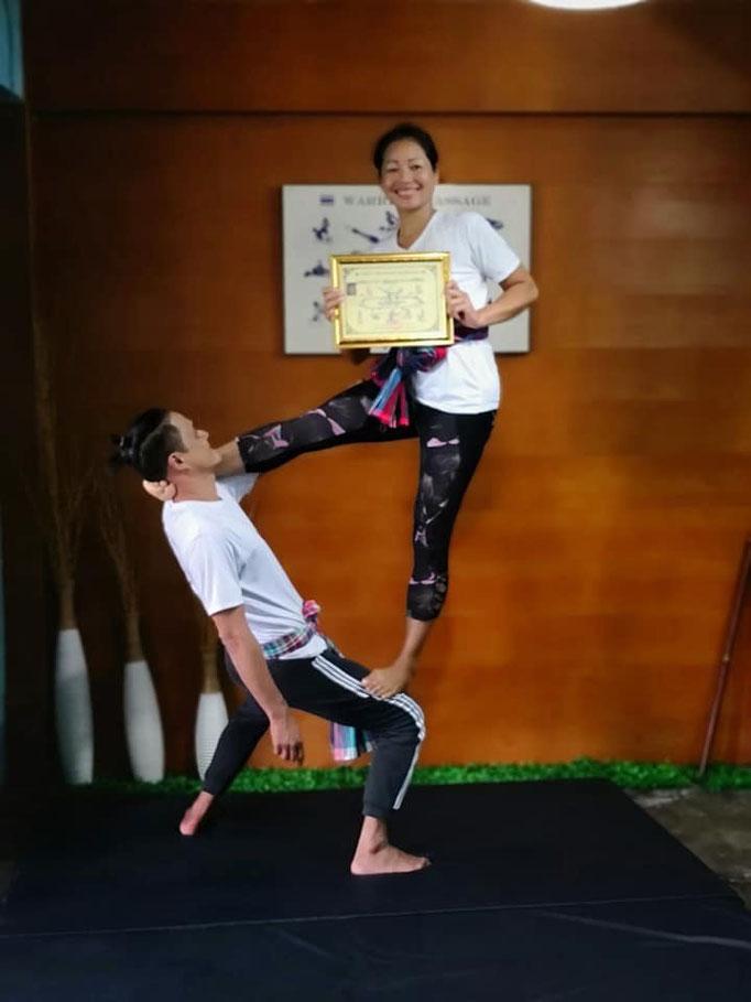 Mit thai Warrior Massage Lehrer Master Jack Sharman
