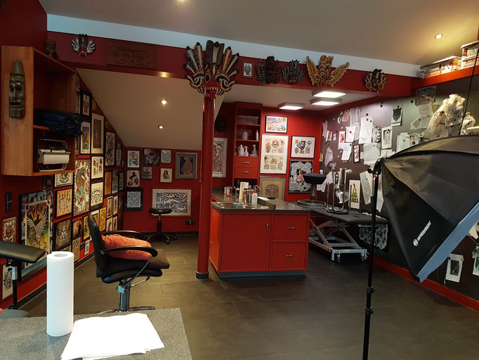 Inside our Tattoo Parlor at Fort Notch...