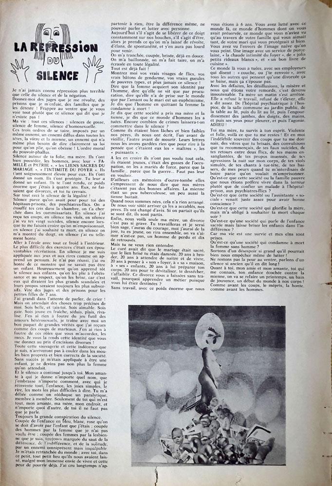 """Le Torchon Brûle n°2, page n°12 - collage """"Poulette aux oeufs d'or"""""""""""