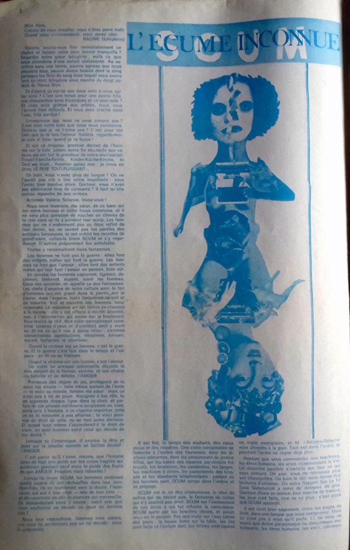 """Le Torchon Brûle n°4, page n°1 - collage """"L'avenir au féminin"""" ou """"La dactylo"""""""