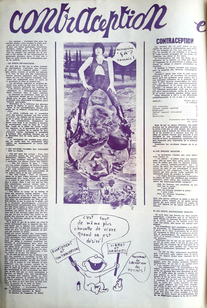 """Le Torchon Brûle n°1, page n°5 - collage """"Reproduire çà? Jamais!"""""""