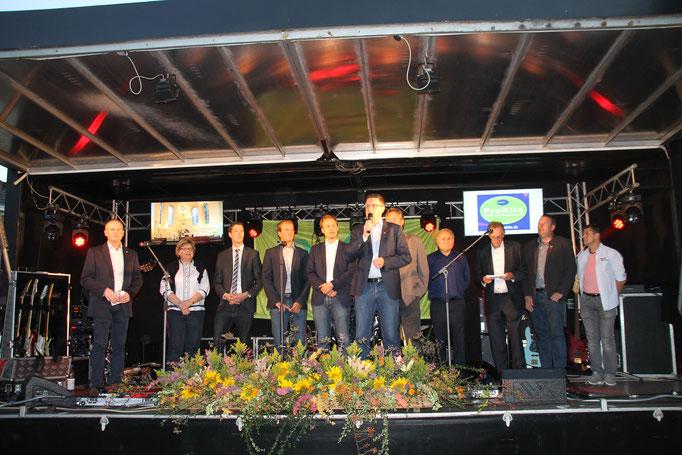 Bei der Eröffnung der Stadtparty 2016
