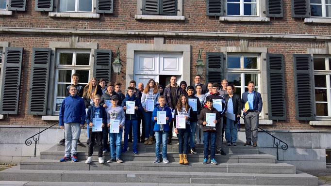 Beim Empfang der Teilnehmerinnen und Teilnehmer am Boy's und Girl's Day 2017