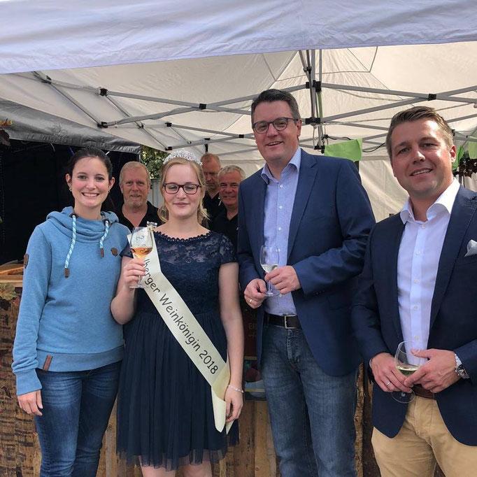 Beim Weinfest 2018 der Stolberger CDU