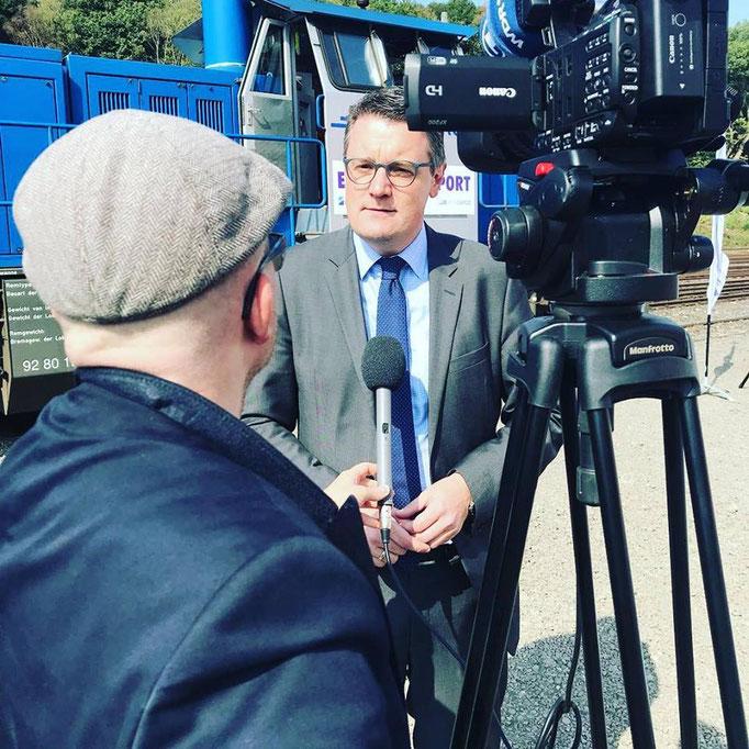 Im Interview im Rahmen der Präsentation des Euregio Railportes