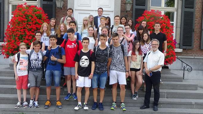 Beim Besuch einer Schülergruppe aus dem spanischen Albercete
