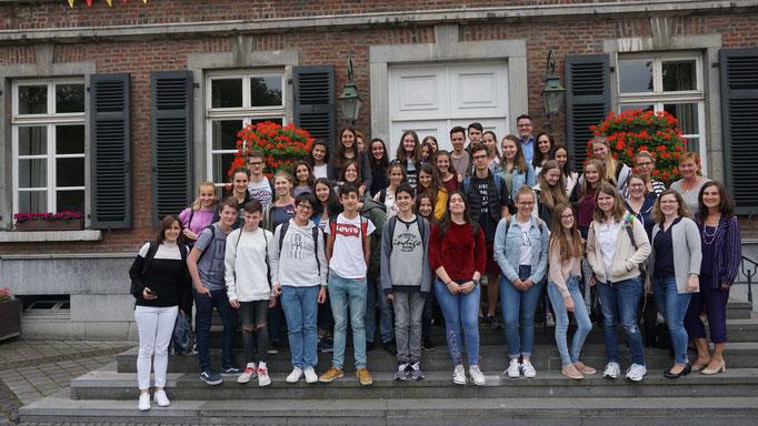 Gemeinsam mit den Austauschschülern aus Toledo (Spanien)