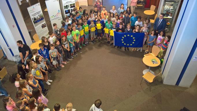 Bei den Feierlichkeiten im Rahmen des Europatages 2018