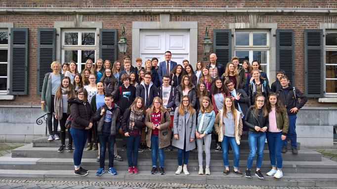 Beim Empfang der Austauschschüler aus Valognes
