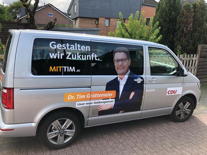 Der Wahlkampfbus für die Städteregionsratswahl 2018