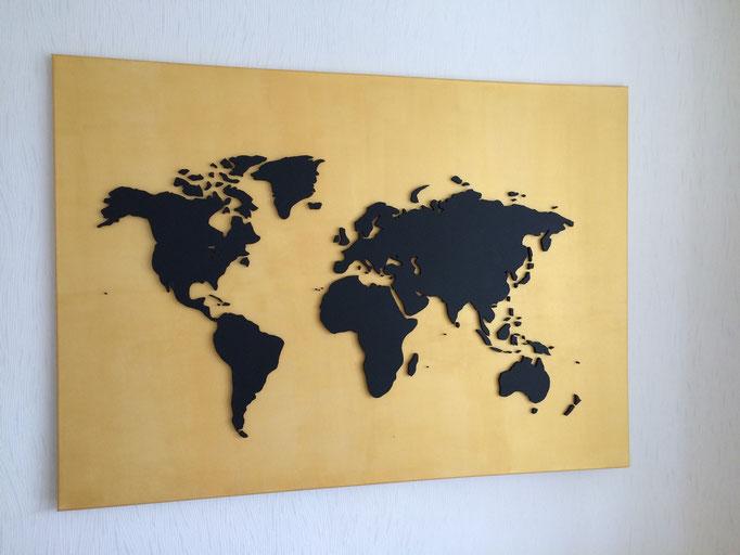 Gold & Karbonschwarz (140x100 cm)