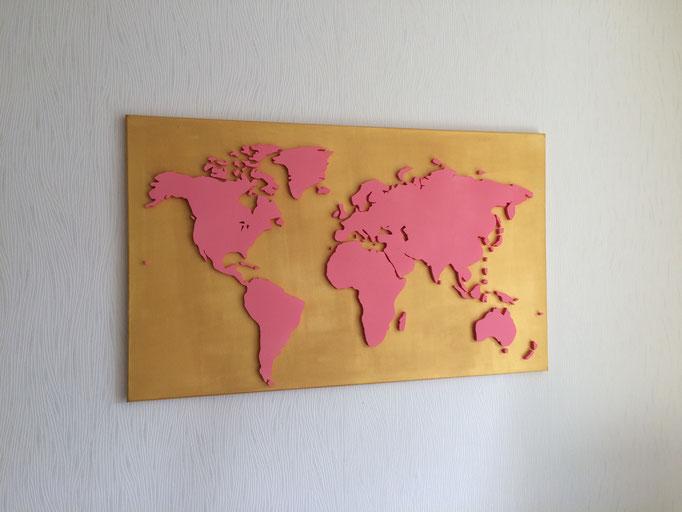 Gold & Rosa (100x60 cm)