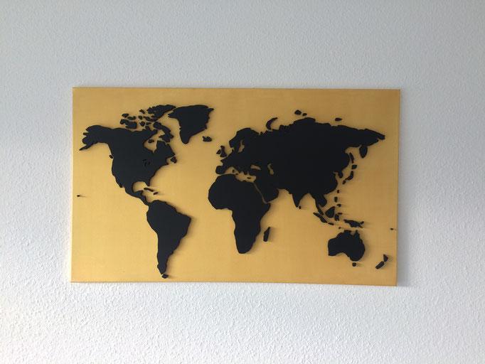 Gold & Karbonschwarz (100x60 cm)