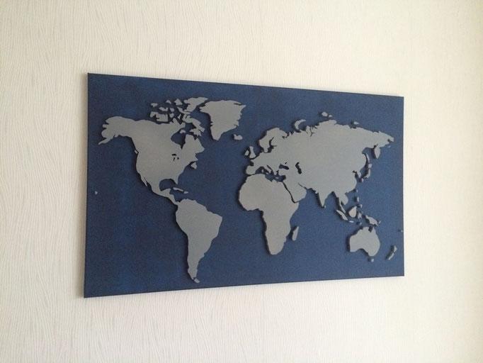 Indigo & Neutralgrau 3 (100x60 cm)
