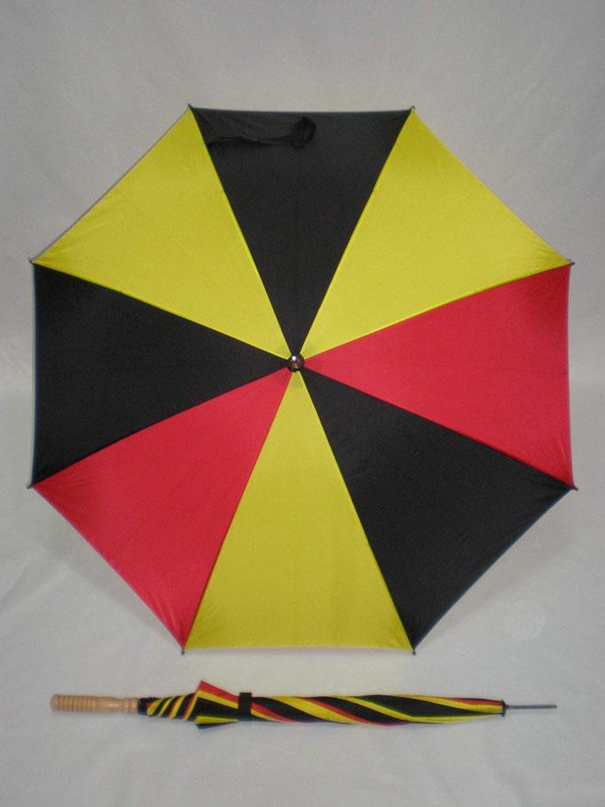 185 Belgische vlag automatisch met rechte houten handvat