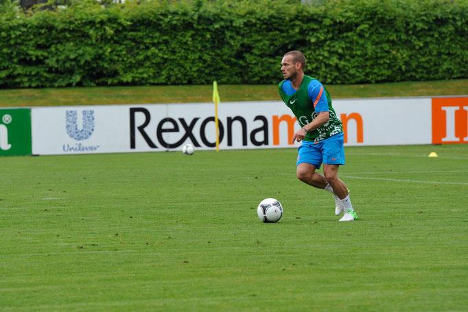Sneijder, entraînement Vidy 2012