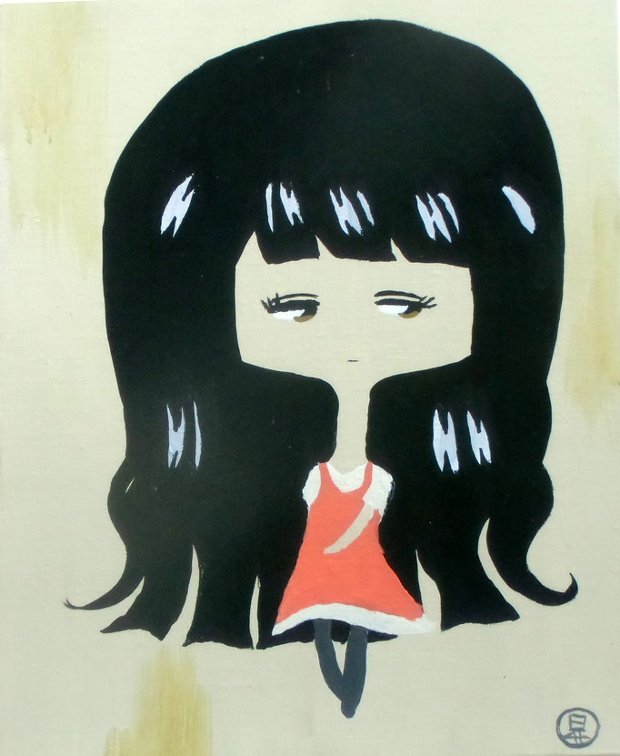 フローライトの娘 平成29年9月24日 318×410mm キャンバスにアクリル