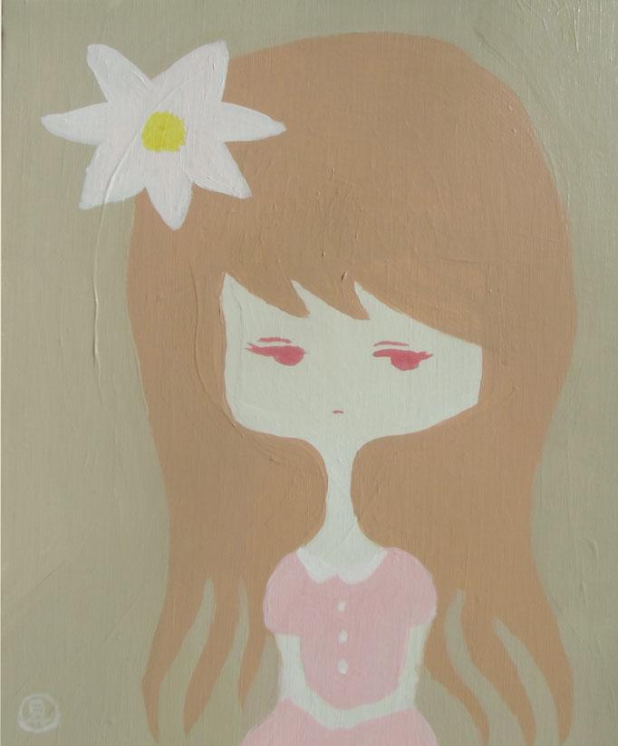 人型の花 平成29年10月30日 318×455mm キャンバスにアクリル