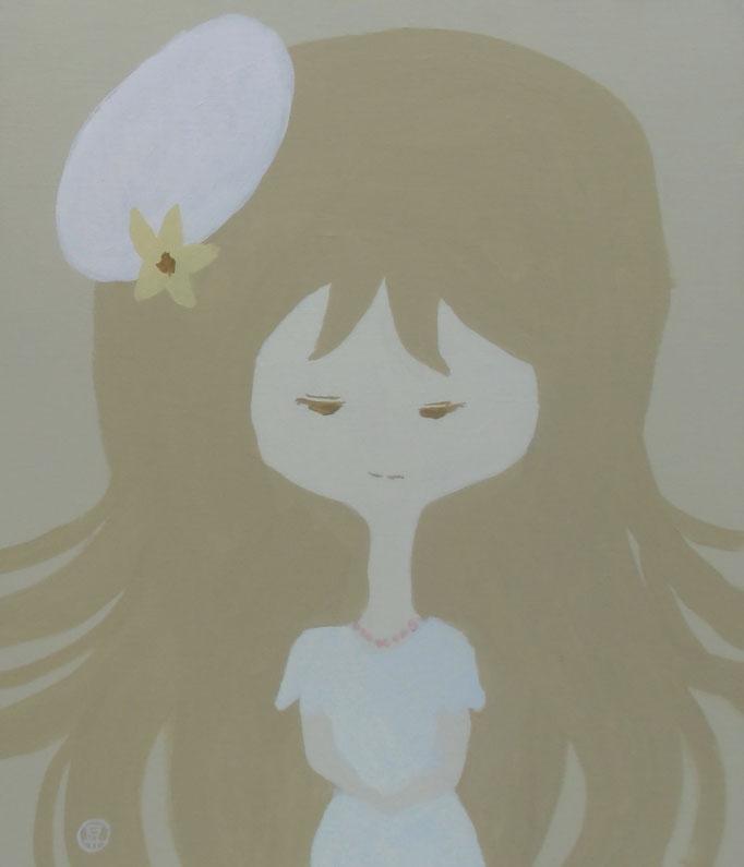 The evil that angel do. 平成29年10月15日 380×455mm キャンバスにアクリル