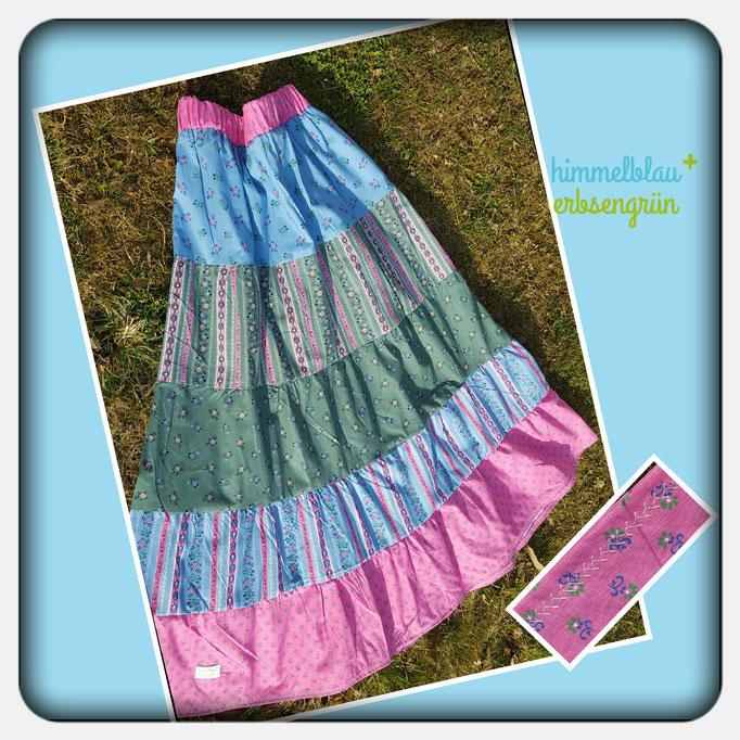 Sommer Stufenrock aus aus Baumwolle oder auch Baumwoll Jersey - jede Grösse und Länge ab € 40.-
