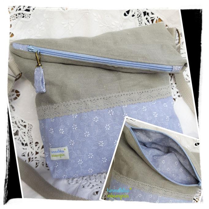 FoldOver Bag  , lässige Tasche , Kombi mit Leder, Leinen etc möglich   ab € 38.-