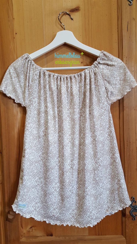 Shirt mit Gummiband und Rollsaum, versch.Tragevarianten, Viskose Jersey Gr XS - XL    ab € 30.-