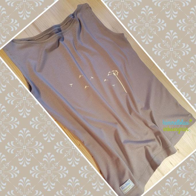 Trägershirt  aus Viskose Jersey Gr XS bis XXL  , U Boot Ausschnitt, exkl  Plott   ab € 30.-