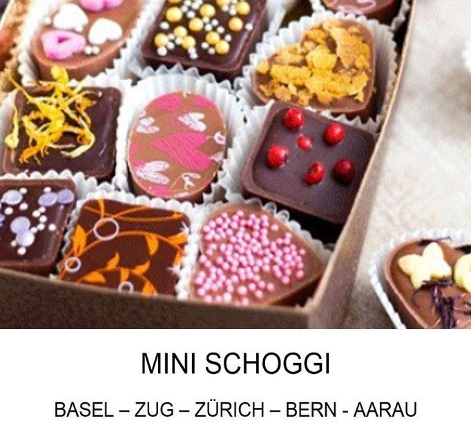 Geburtstagsparty für Kinder Mini Schoggi