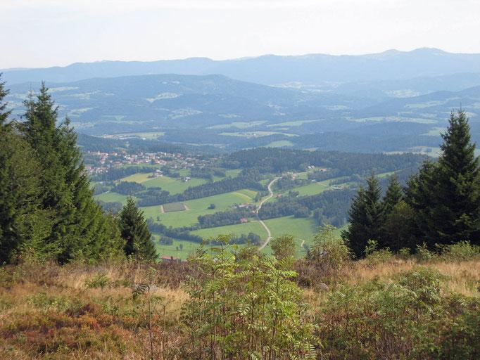Blick ins Wanderparadies Zellertal