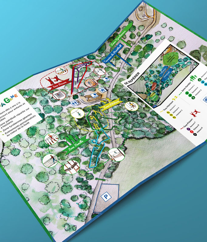Illustration et mise en page du plan pour Naturagame
